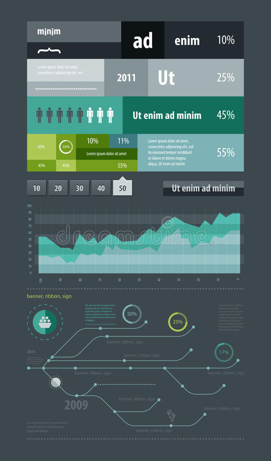 Elements of infographics and icons