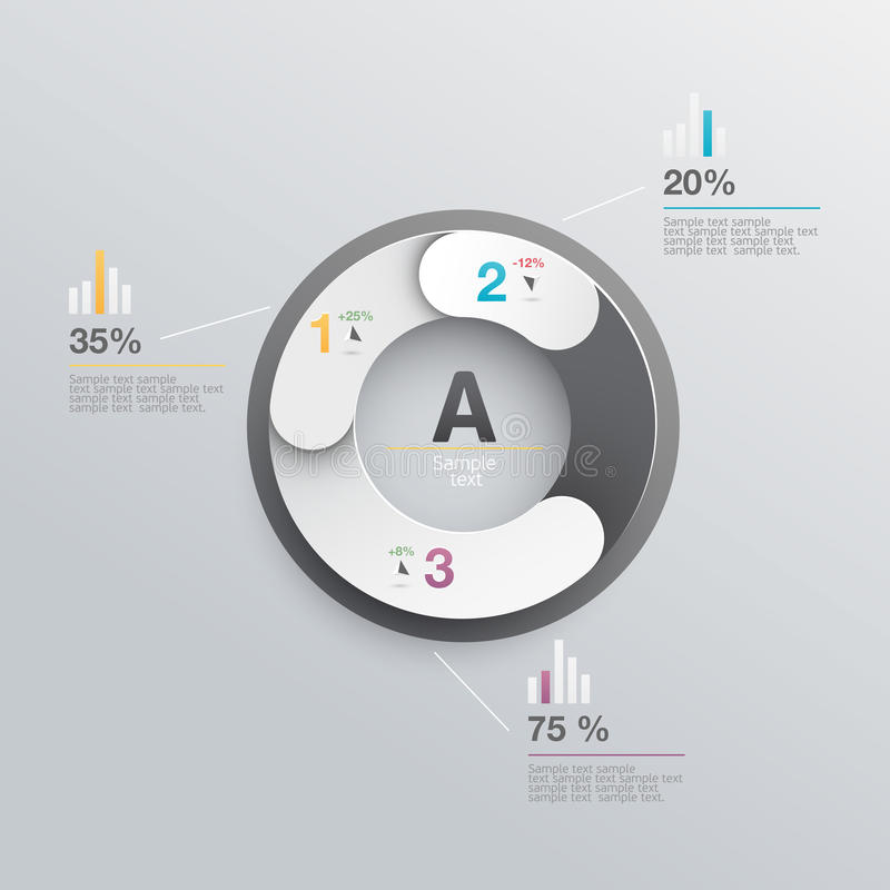 Elements of infographics royalty free illustration
