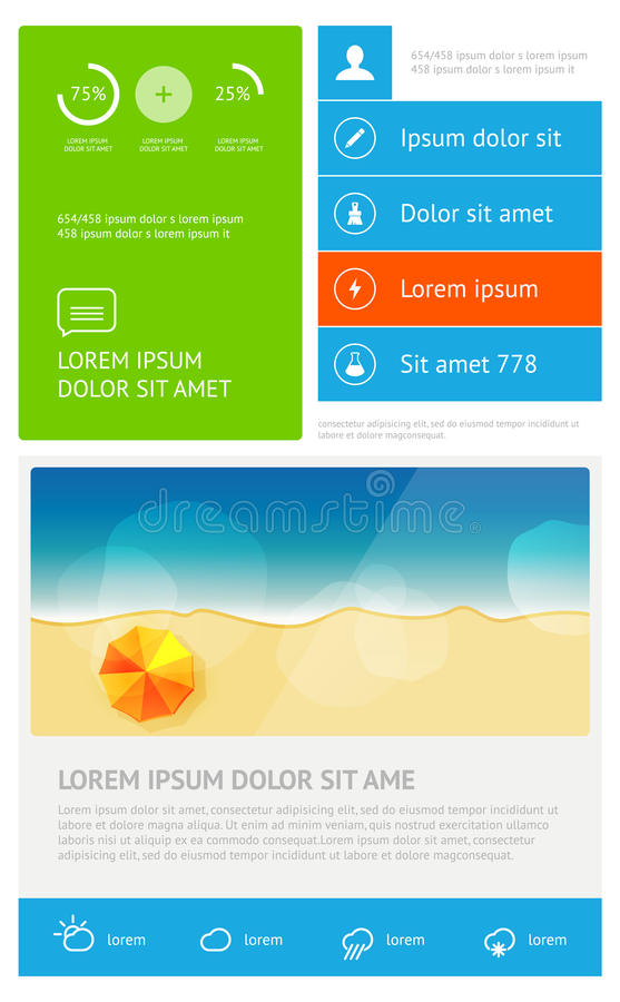 Download Elements of infographics stock vector. Image of border - 35064880
