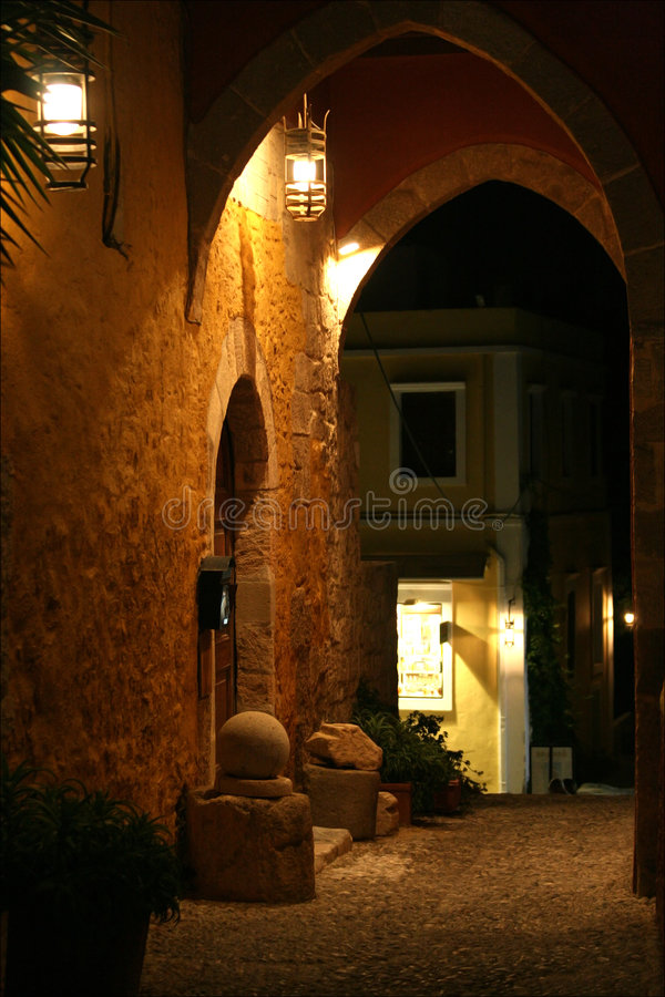 Elements of medieval architecture. Rhodes, Greece. royalty free stock photos