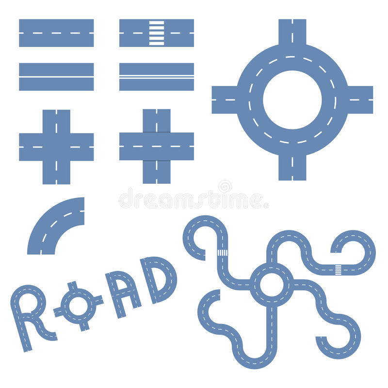 Elements of the road royalty free illustration