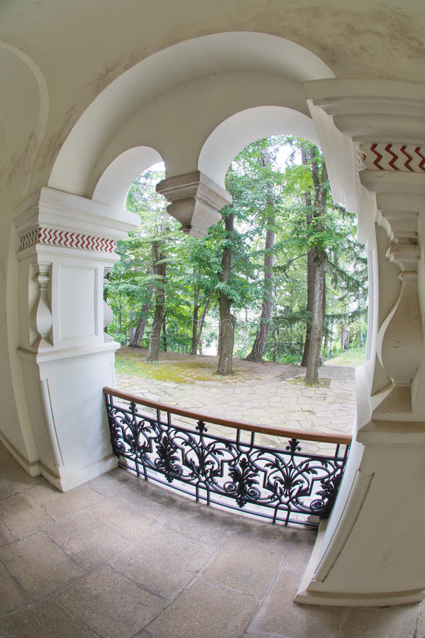 Elements of Russian architecture in Shipka royalty free stock photo