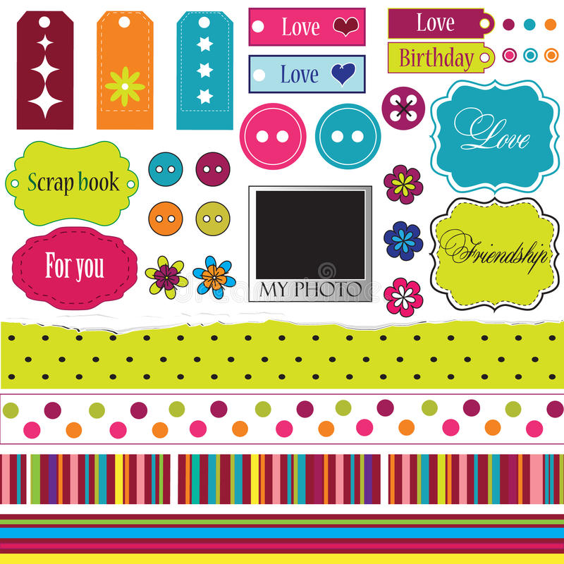 Elements For Scrap-booking Stock Photos