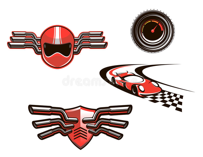 Download Elements And Symbols Of Racing Sport Stock Vector - Illustration of motocross, speed: 32475117