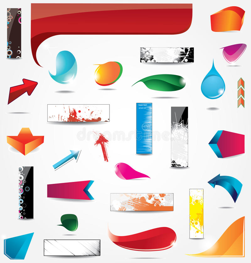 Download Elements for web design stock vector. Image of collection - 22047168