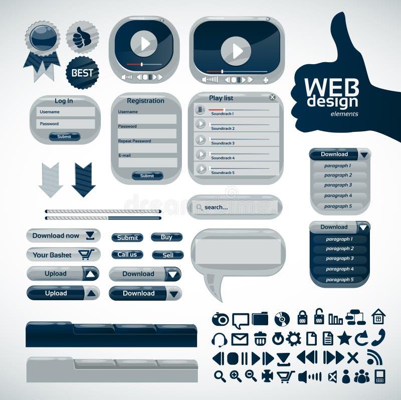 Elements for web design. Big set