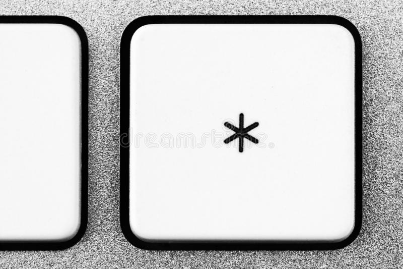 Elements of a white computer keyboard close up stock photography