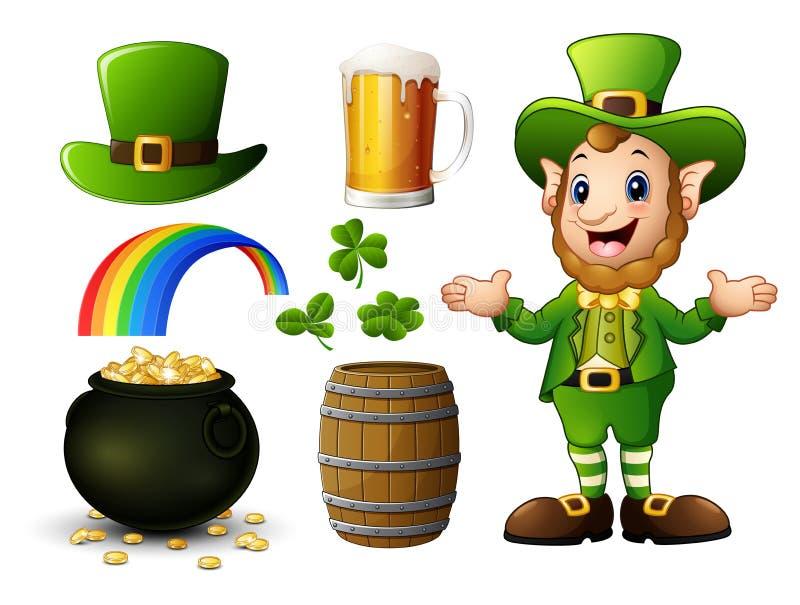 Elementsammlung St. Patricks Tages stock abbildung