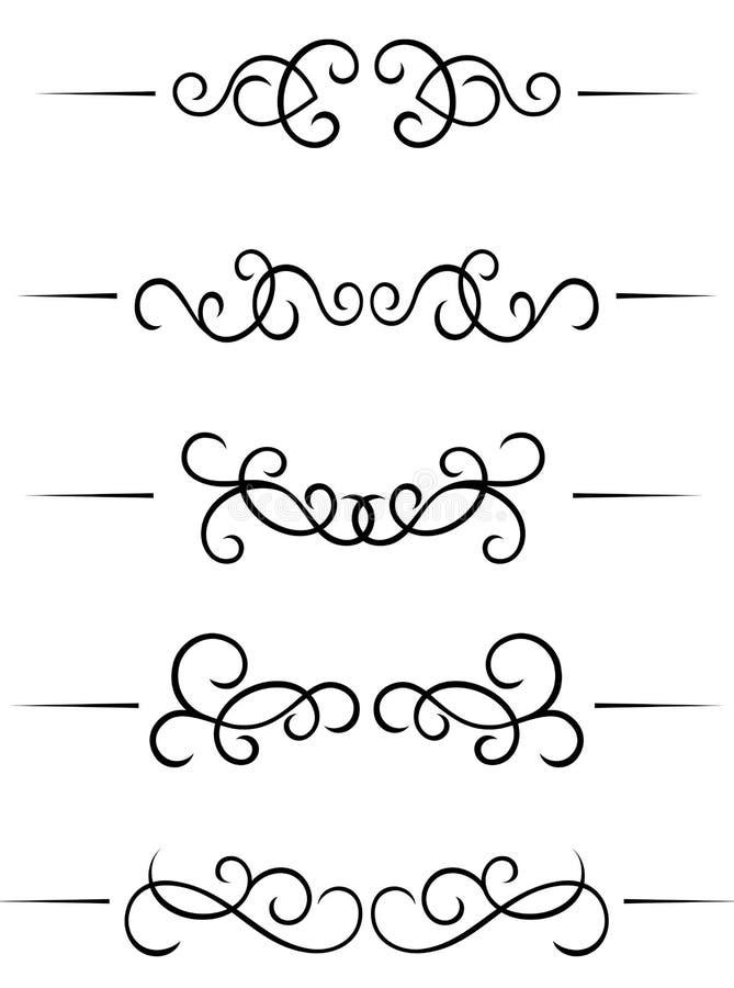 elementswirl vektor illustrationer