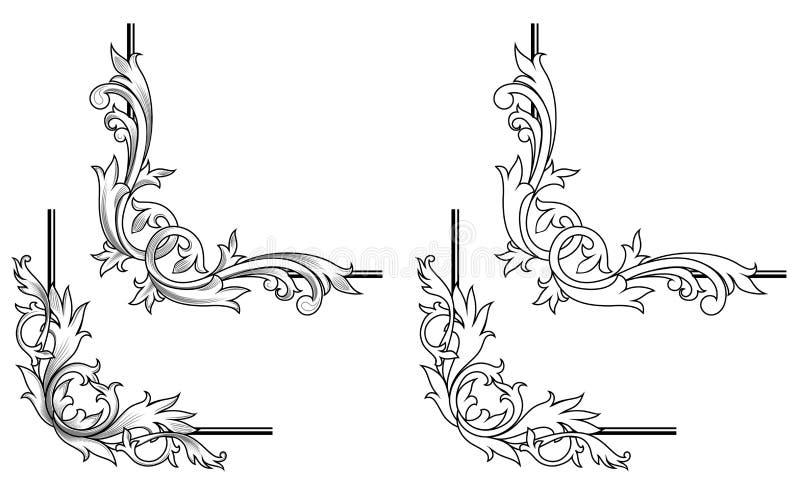 elementswirl royaltyfri illustrationer