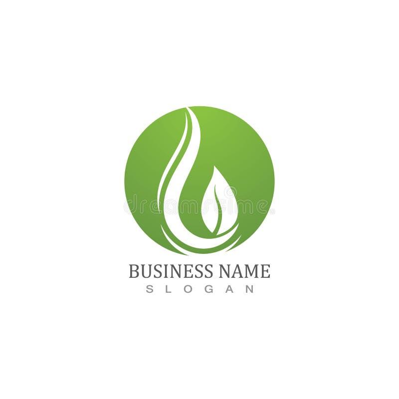 Elementsymboler för droplet-element i vatten, företagslogotyp royaltyfri illustrationer