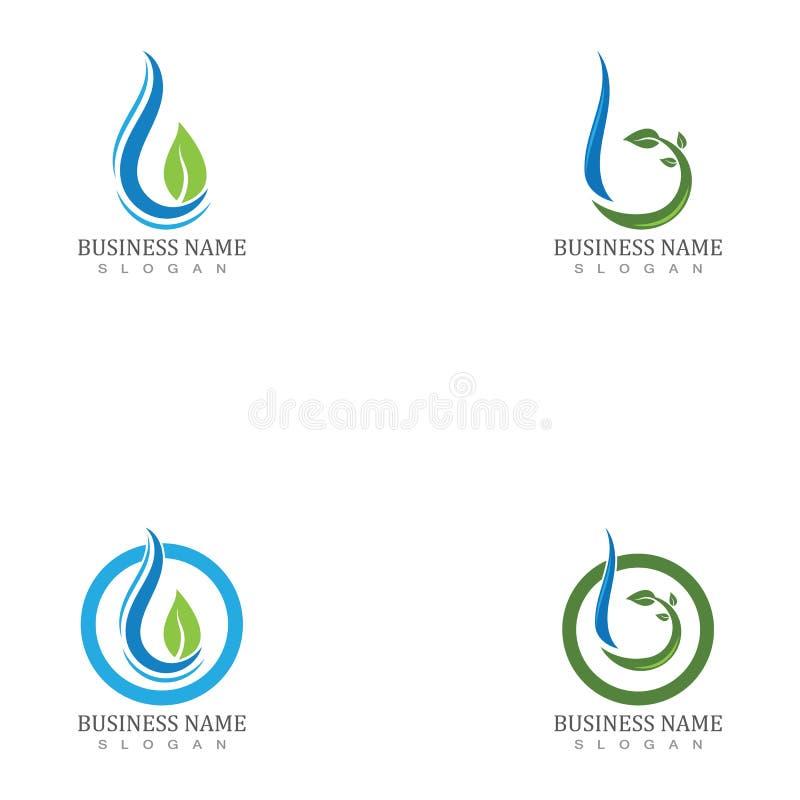 Elementsymboler för droplet-element i vatten, företagslogotyp vektor illustrationer