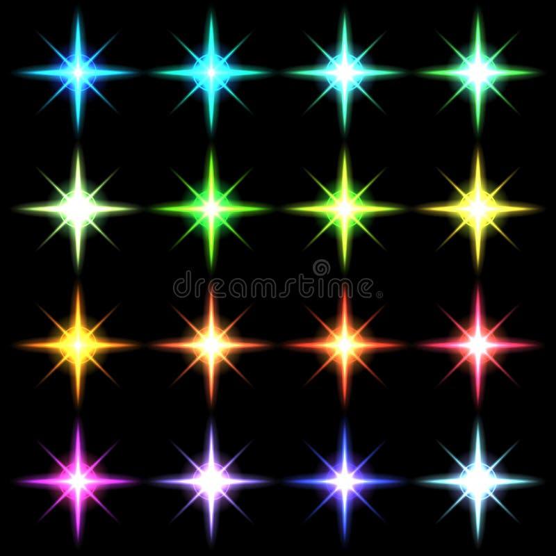 Elementu błękita światło z obiektywu skutka setem ilustracja wektor