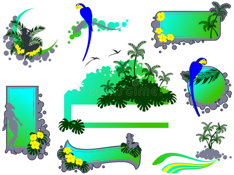 elementu grunge dżungli styl royalty ilustracja