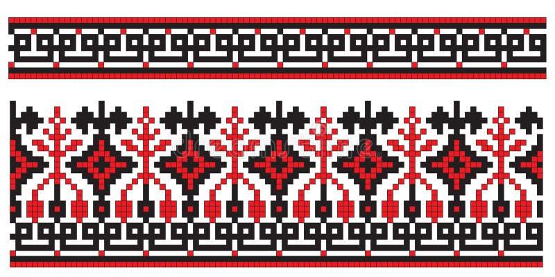 elementu hafciarski tekstury ukrainian royalty ilustracja