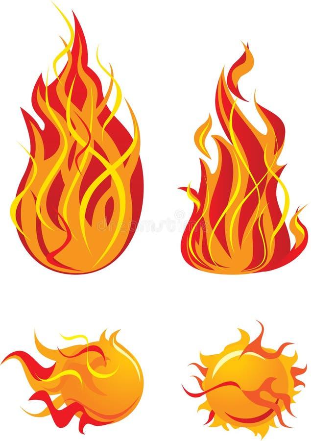 elementu płomień ilustracja wektor