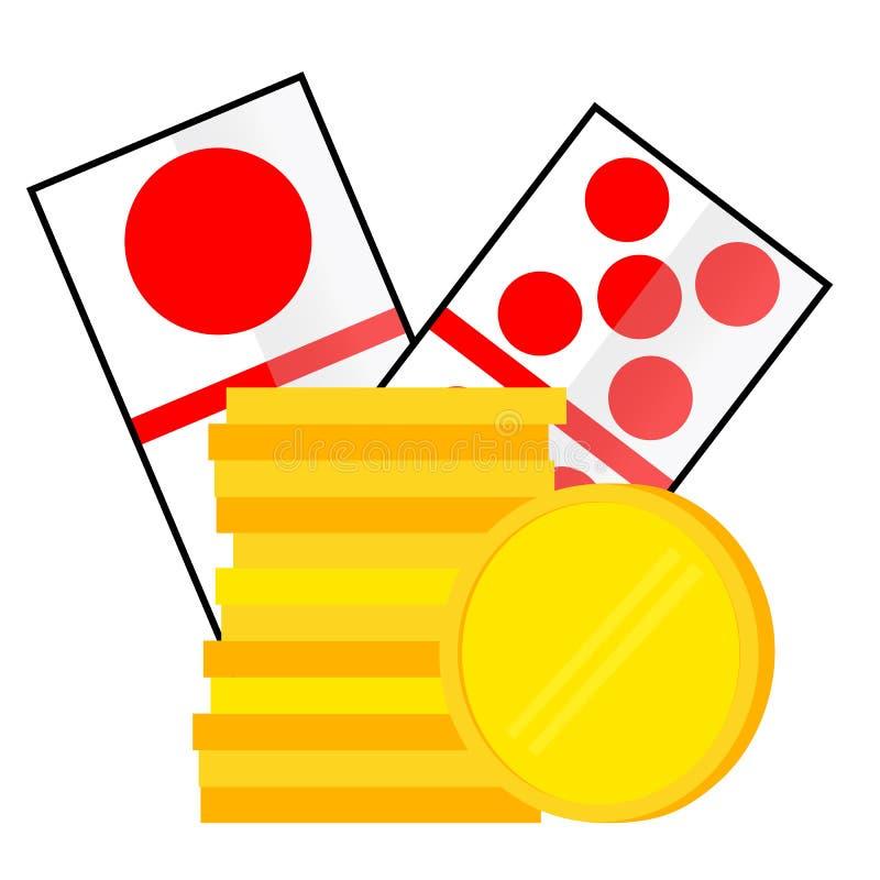 Elementu projekt dla hazardu na bielu ilustracja wektor