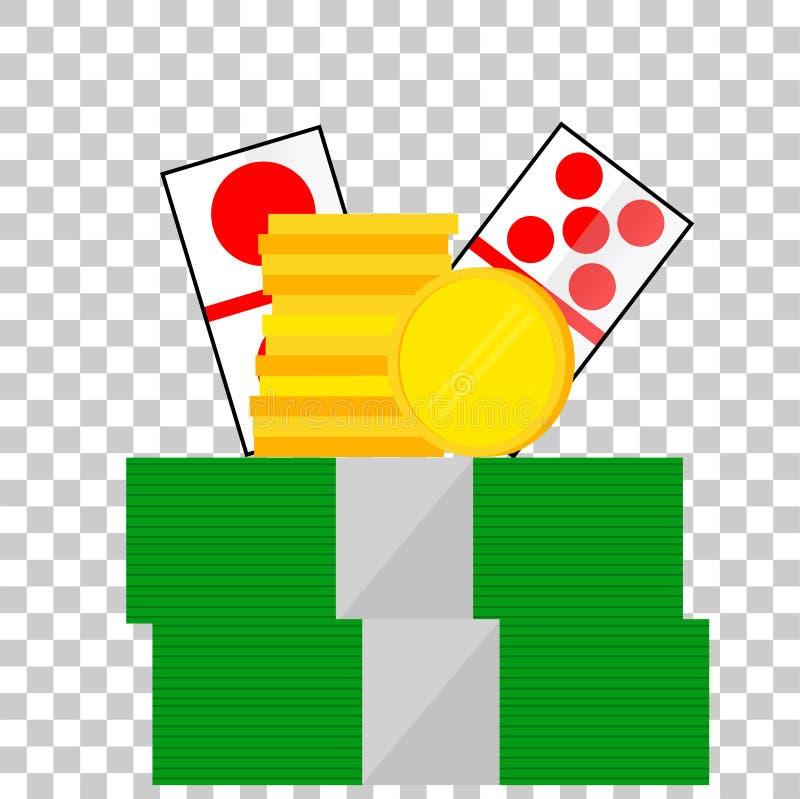 Elementu projekt dla hazardu przy Przejrzystym skutka tłem ilustracja wektor