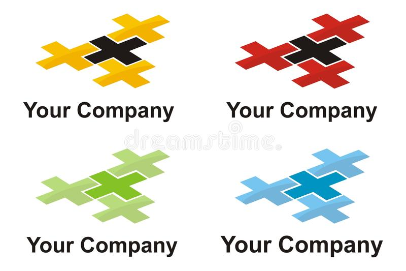 elementu przecinający logo obraz royalty free