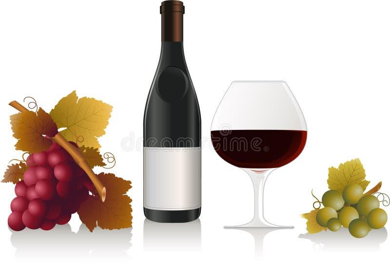elementu wektoru wino royalty ilustracja