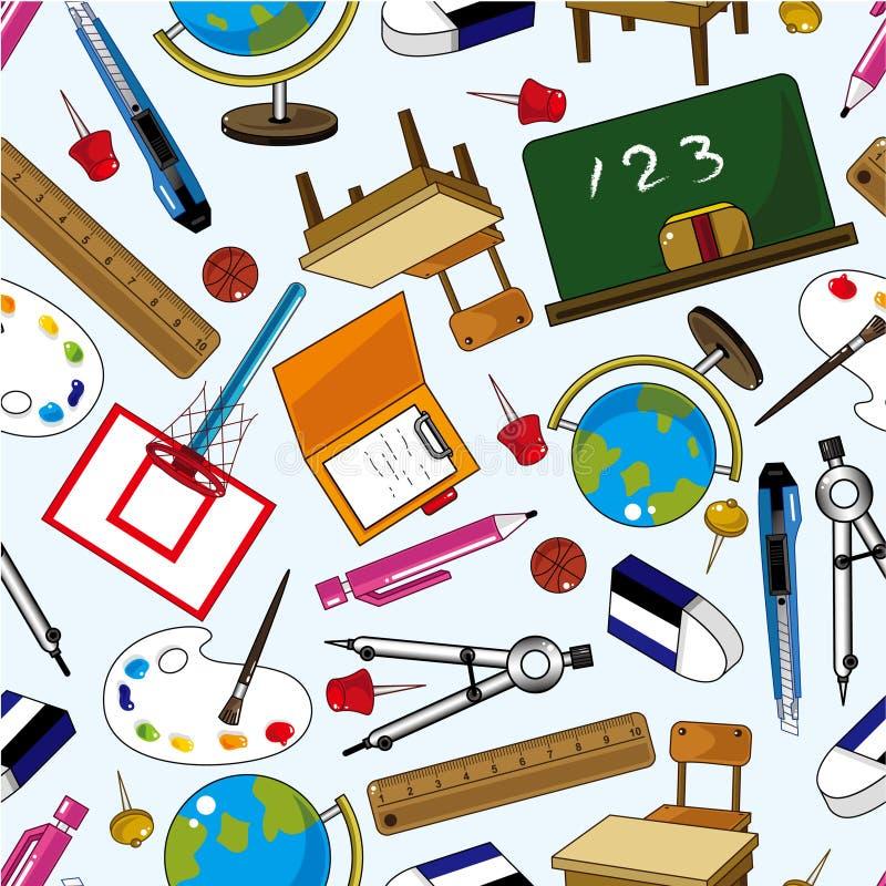elementu wzoru szkoła bezszwowa ilustracja wektor