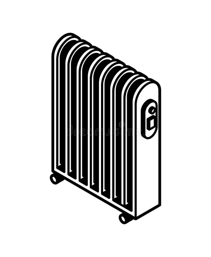 Elementvärmesymbol Elektriskt värma elementtecken ocks? vektor f?r coreldrawillustration royaltyfri illustrationer