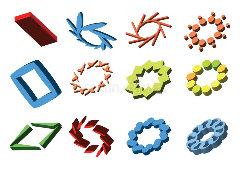 elementy abstrakcyjne logo ilustracja wektor