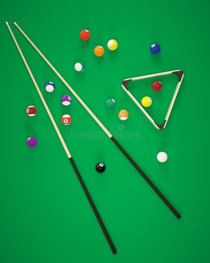 Elementy bilardowe piłki ilustracja wektor