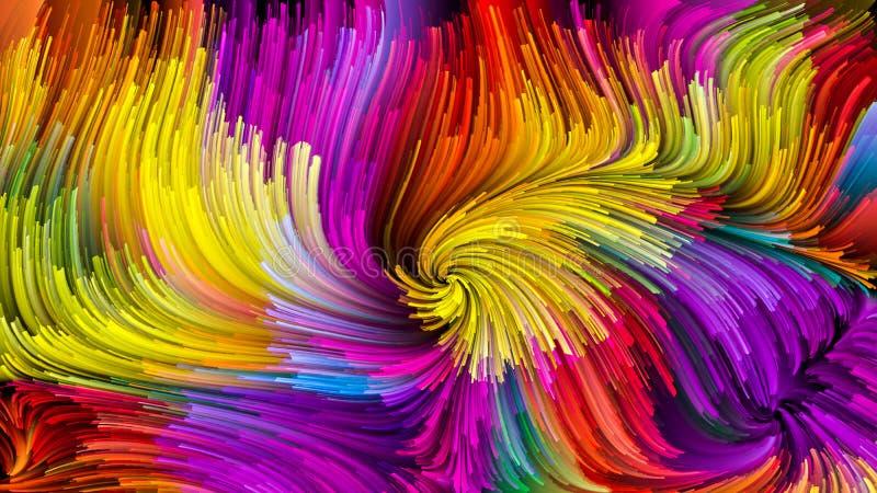 Elementy Ciekły kolor ilustracja wektor