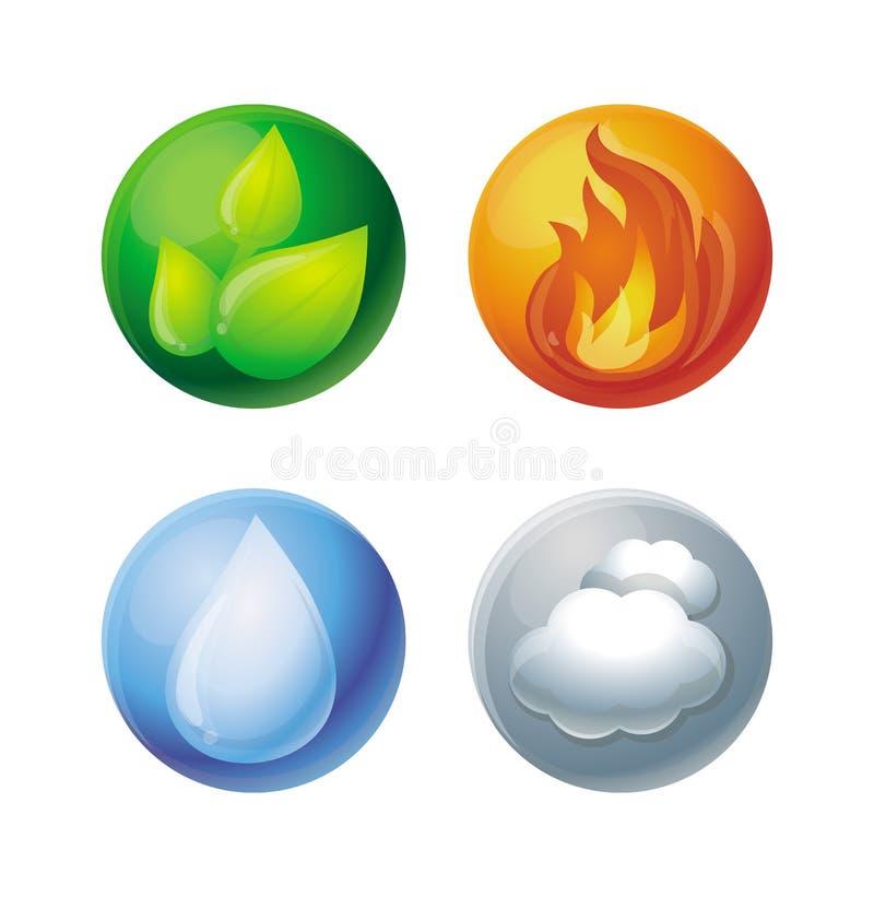 elementy cztery royalty ilustracja