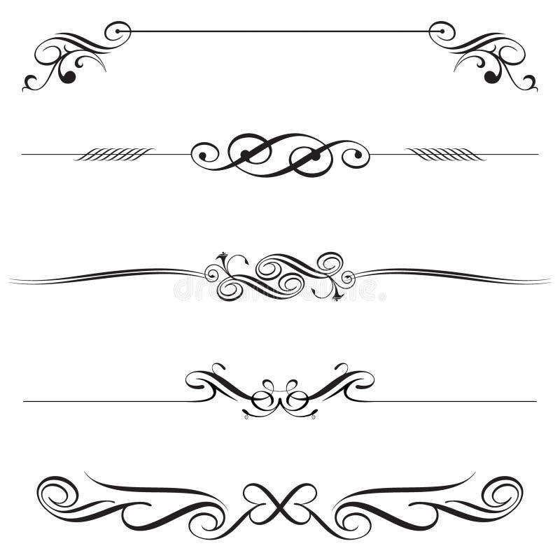 elementy dekoracji horyzontalnych royalty ilustracja