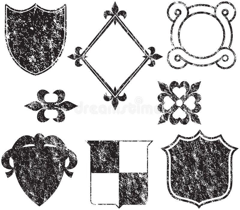 elementy grunge logo royalty ilustracja