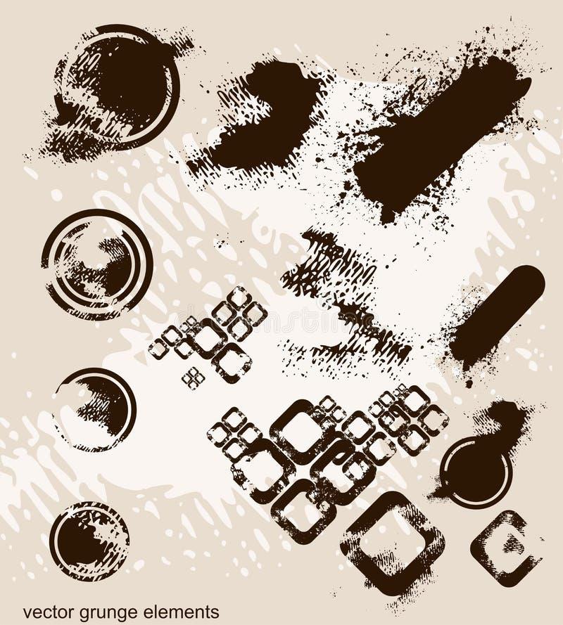 elementy grunge partii ilustracja wektor