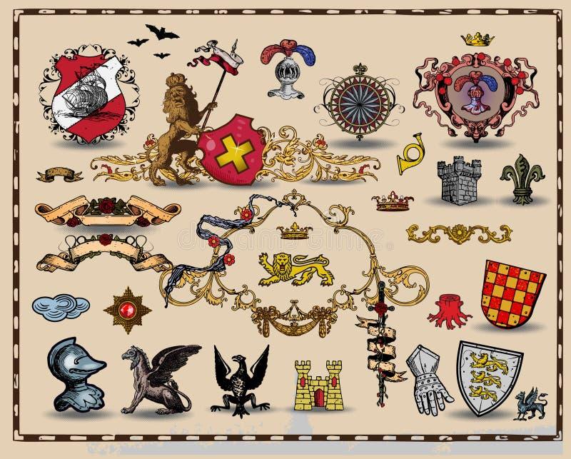 elementy heraldyczni ilustracji