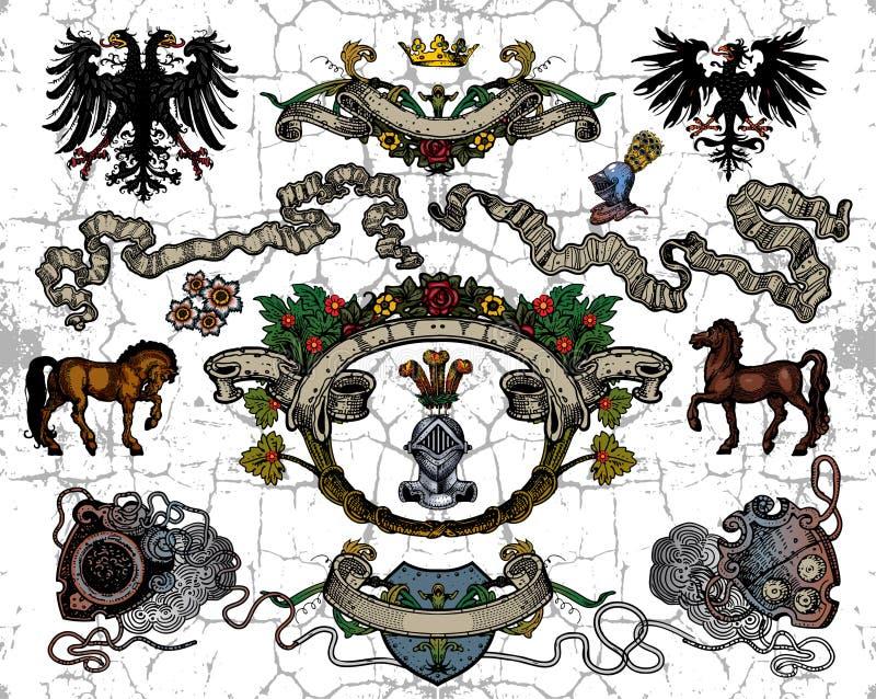 elementy heraldyczni ilustracja wektor