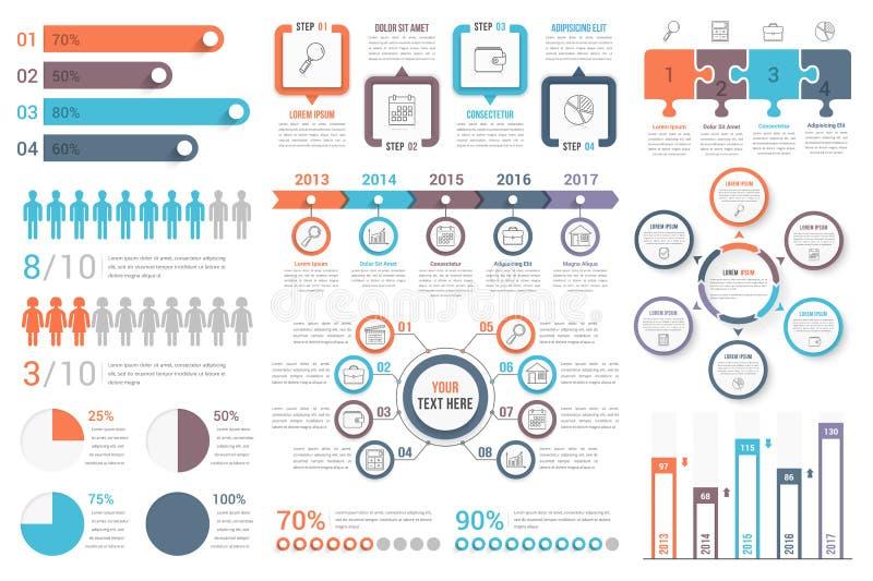 elementy infographic ilustracja wektor