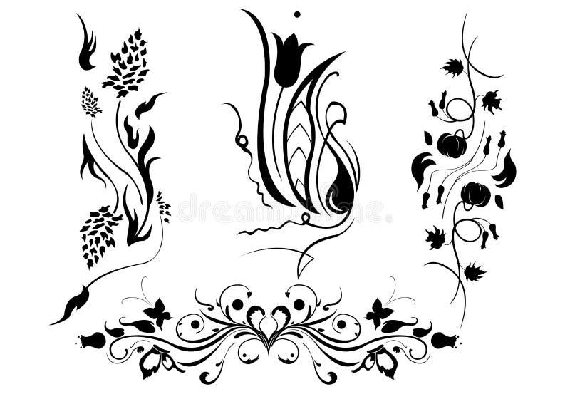 elementy kwieciści royalty ilustracja
