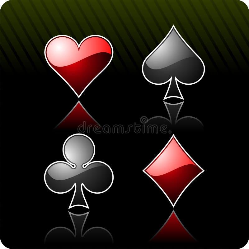 elementy na kasyno ilustracja wektor