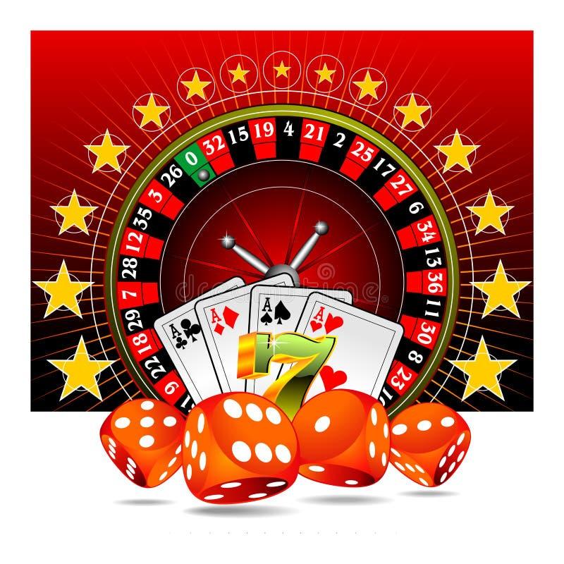 elementy na kasyno ilustrację hazardu ilustracji
