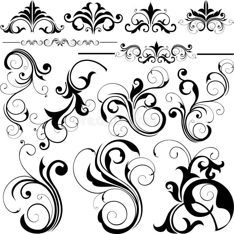 elementy projektów ilustracji