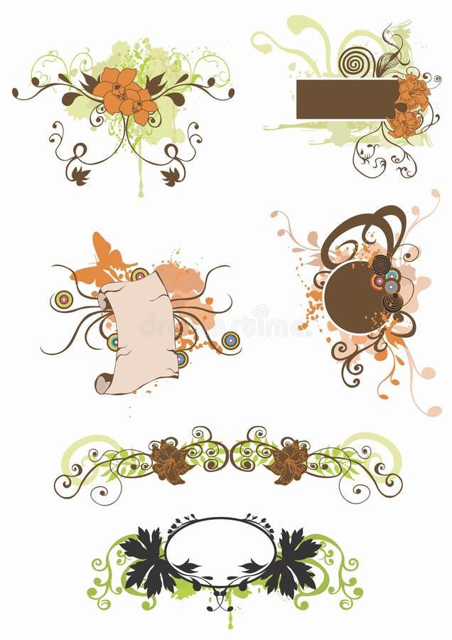 elementy projektów royalty ilustracja