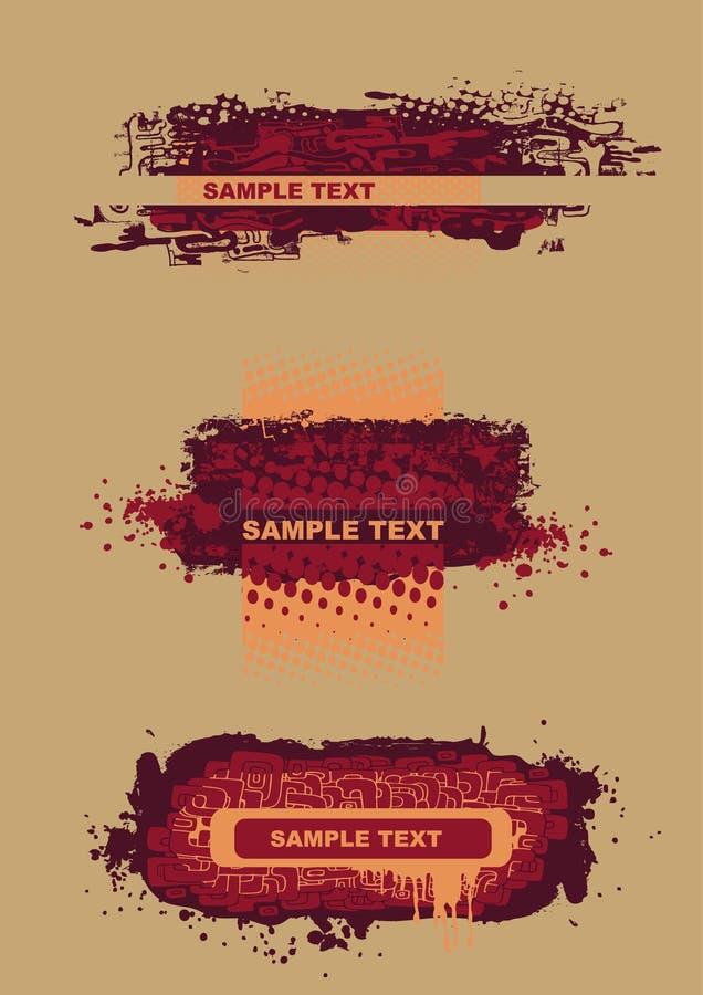 elementy projektów grunge styl ilustracja wektor