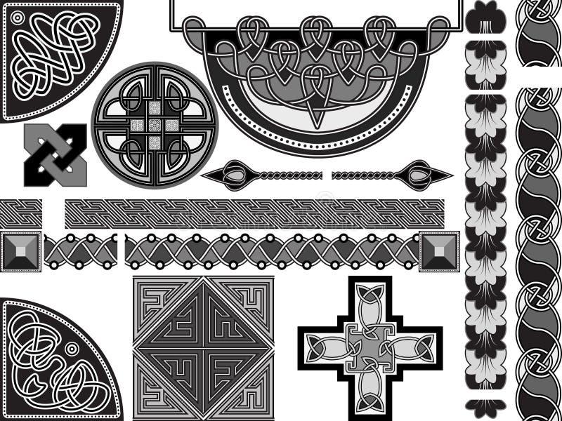 Elementy projekt w celcie royalty ilustracja