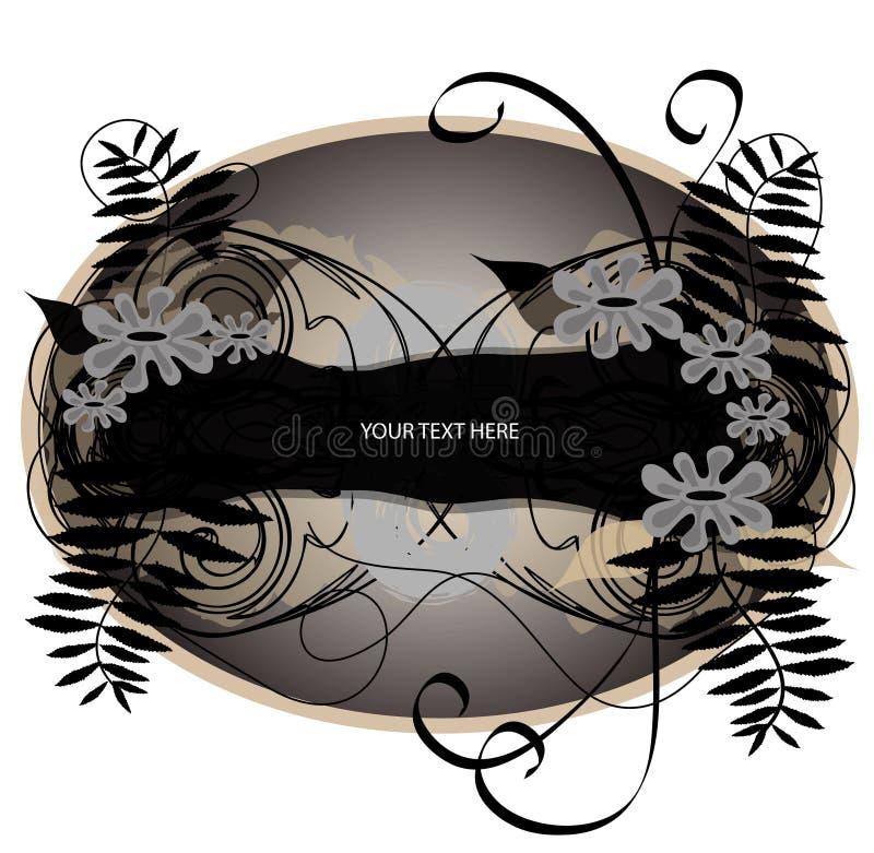 elementy projektu kwiecisty ornamentacyjny ilustracja wektor