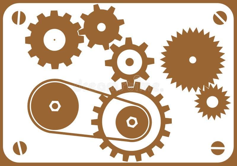 elementy projektu mechanicznych ilustracji