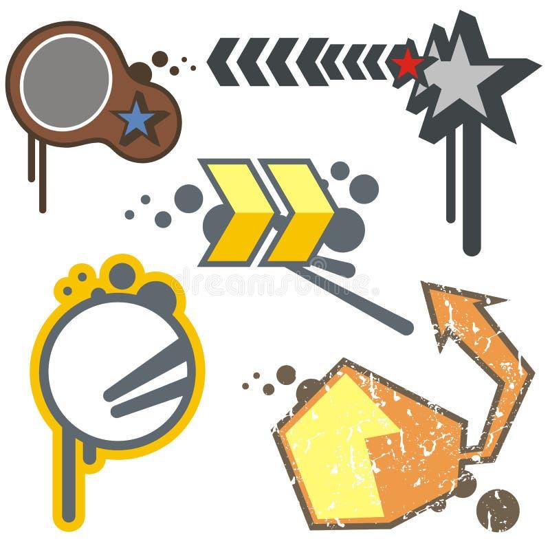 elementy projektu miejskie royalty ilustracja