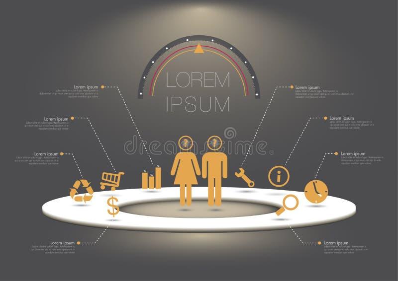 elementy projektu podobieństwo ilustracyjny wektora ilustracji