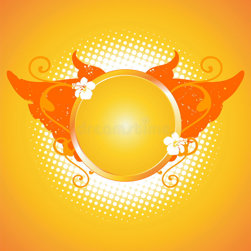 elementy projektu ram pomarańcze ilustracja wektor