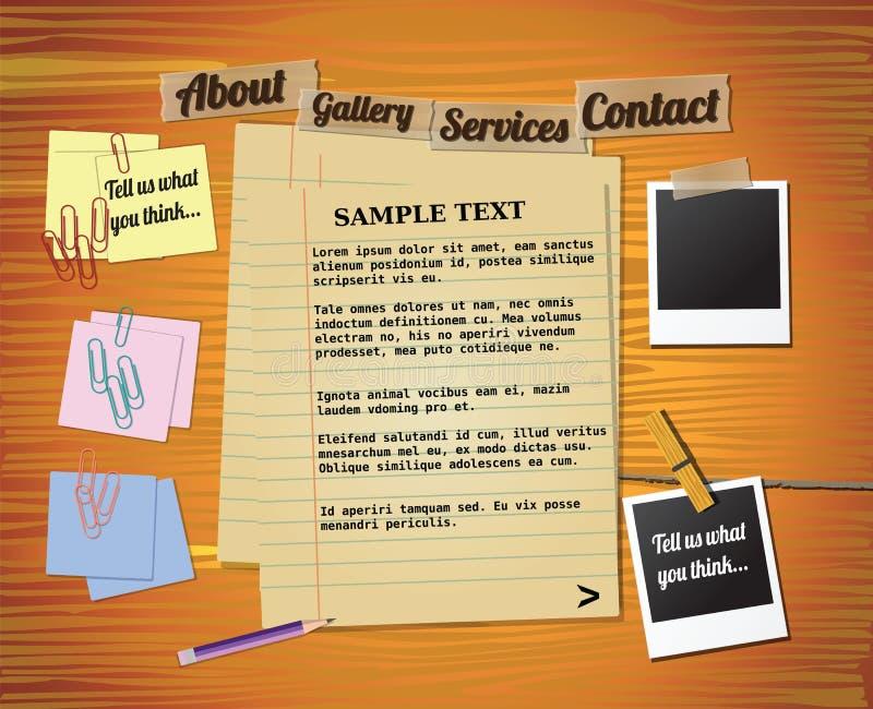elementy projektują szablonu rocznika stronę internetową ilustracji
