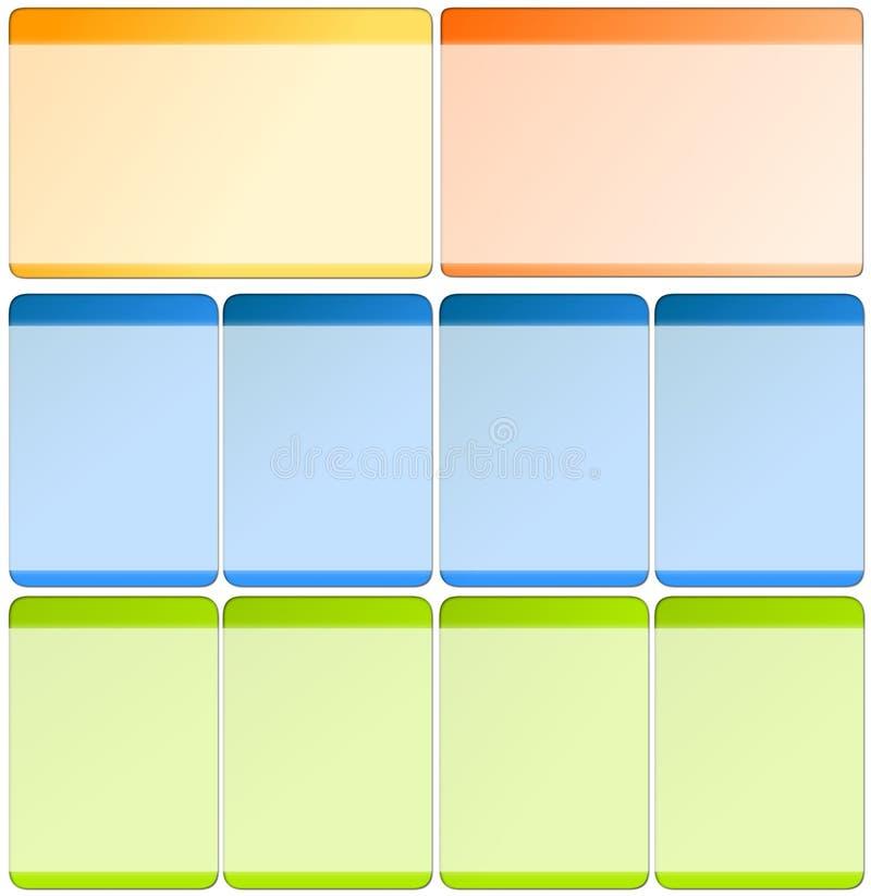 elementy szablonów sieci royalty ilustracja